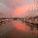 Sunrise on the Marina by Gillian Bates