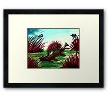 Resting , watercolor Framed Print