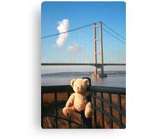 Teddy Bear Travels- Humber Bridge Canvas Print