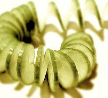 Cucumber Spirals  by waxyfrog