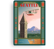 Seattle Icons Canvas Print