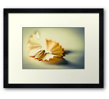 Pencil Twist Framed Print