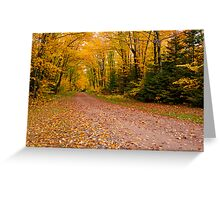 Yellow fall Driveway Greeting Card