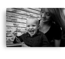 Taisha & Her Baby Boy - Portrait Canvas Print