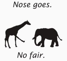 Nose Goes Shirt by jonmelnichenko