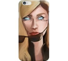 Cyberpunk glowing eyes Portrait iPhone Case/Skin