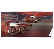Remote Airbourne Artillery Drones Poster
