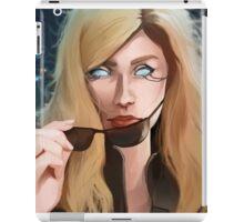 Cyberpunk glowing eyes Portrait iPad Case/Skin