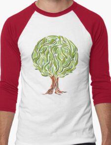 Illusion  tree Men's Baseball ¾ T-Shirt
