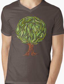 Illusion  tree Mens V-Neck T-Shirt