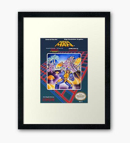 Mega Man 1 nes  Framed Print