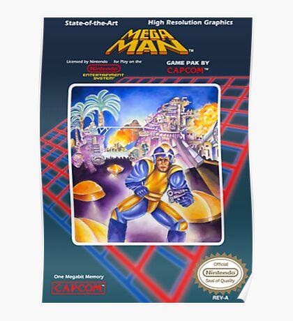 Mega Man 1 nes  Poster