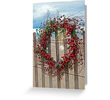 Beach Berry Wreath Greeting Card