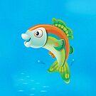Jumping Fish - iPhone case by KenRinkel