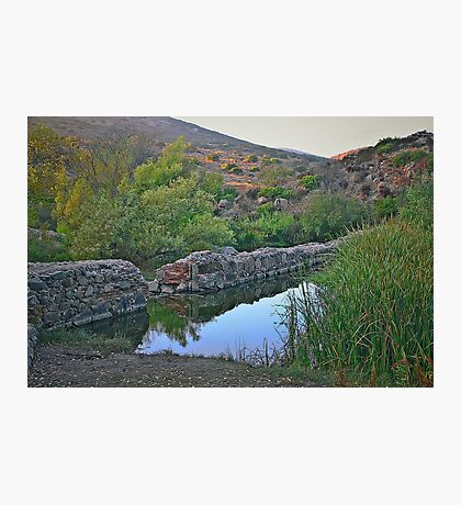 Old Mission Dam-Historic Landmark Photographic Print