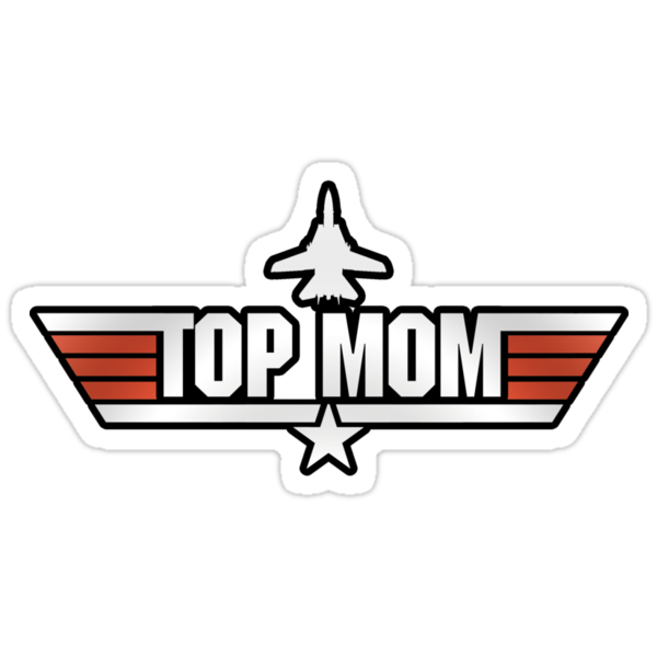 Top Gun style T-Shirt (Top Mom) by TGIGreeny