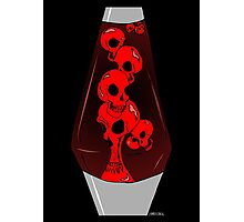 Skull Lava Lamp Photographic Print