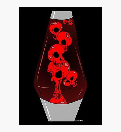 Skull Lava Lamp Photographic Print