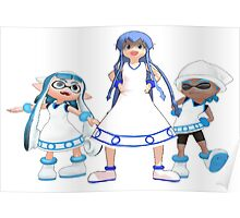 Squid Girl with Inklings! Poster
