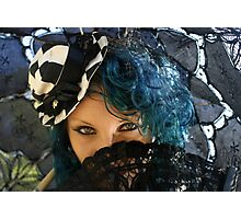 Blue Eyes ~ Miss Twisted Photographic Print