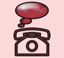 ring ring - phone, sticker, tee One Piece - Long Sleeve