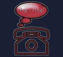 ring ring - phone, sticker, tee Kids Tee