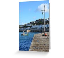porthleven harbour Greeting Card