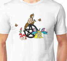 Faeries, Pan and a Pentacle Unisex T-Shirt