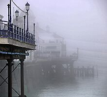 Pier----ing into the Mist by Larry Lingard-Davis