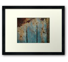 Abstract Peat Landscape Framed Print