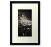 Stormy Country Road Framed Print