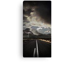 Stormy Country Road Canvas Print