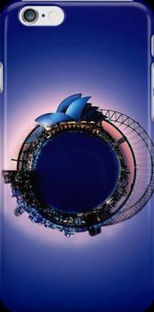 Sydney bubble sphere phone case by Kestrelle
