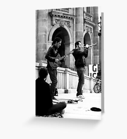 Busking at the Bode Greeting Card