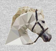 Geometric White Horse One Piece - Long Sleeve