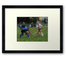 091611 044 0 van gogh field hockey blur 2 oil Framed Print