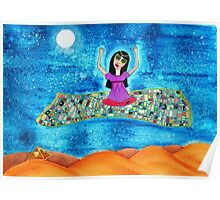 Missy's Magical Flying carpet Poster