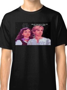 Guybrush and Elaine (final of Monkey Island 1) Classic T-Shirt