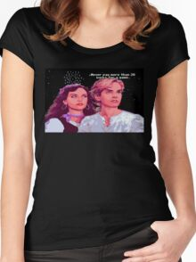 Guybrush and Elaine (final of Monkey Island 1) Women's Fitted Scoop T-Shirt
