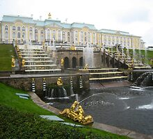 The Grand Cascade and Peterhof Grand Palace  by Mark Prior