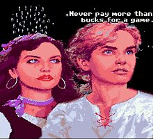 Guybrush and Elaine (final of Monkey Island 1) by themasrix