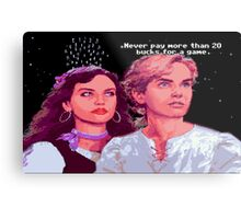 Guybrush and Elaine (final of Monkey Island 1) Metal Print