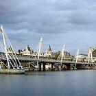 Hungerford Bridge, London by Carolyn Eaton