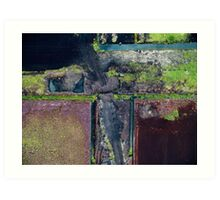 Abstract Peat Landscape No2,  Art Print