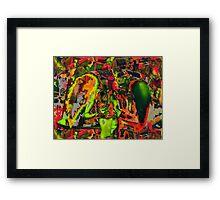 Decapitated Chili Pepper Angel Framed Print