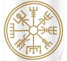 "Vegsvisir - the viking ""compass"" Poster"