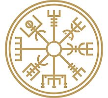 "Vegsvisir - the viking ""compass"" Photographic Print"