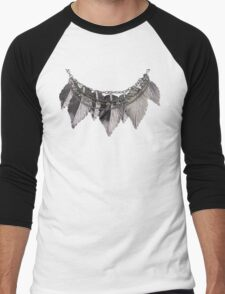 Feather Necklace Men's Baseball ¾ T-Shirt