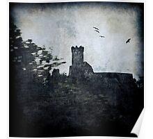Textured Czech Castle Poster