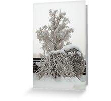 Nordic winter magic Greeting Card
